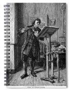 Meissonier: Flute Player Spiral Notebook
