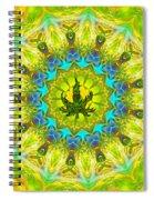 Mellow Yellow Mandala Spiral Notebook