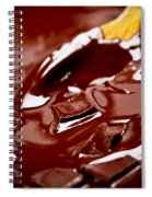 Melting Chocolate And Spoon Spiral Notebook