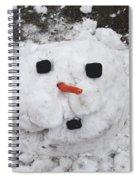 Melting Snowman Spiral Notebook