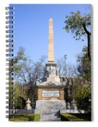 Memorial Monument In Madrid Spiral Notebook