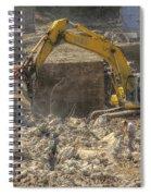 Men At Work Construction Site Spiral Notebook
