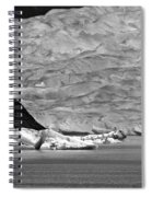 Mendenhall Glacier Bw Spiral Notebook
