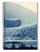 Mendenhall Glacier On A Foggy Morning Spiral Notebook