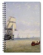 Meno War Schooners And Royal Navy Yachts Spiral Notebook