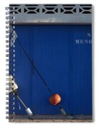 menorca st - A warehouse door in Es Castell Menorca ready to keep local tradicional boats llauts Spiral Notebook