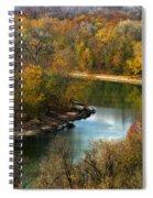 Meramec River Bend At Castlewood State Park Spiral Notebook