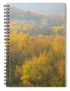 Meramec River Valley Autumn At Castlewood State Park In Missouri Spiral Notebook