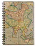 Mercators Map Of Asia Spiral Notebook