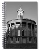 Merchant Exchange Building - Philadelphia In Black And White Spiral Notebook
