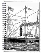 Merchant Steamship, 1838 Spiral Notebook