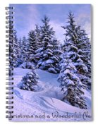 Merry Christmas And A Wonderful New Year Spiral Notebook