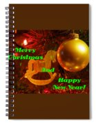 Merry Christmas And Happy New Year  Spiral Notebook