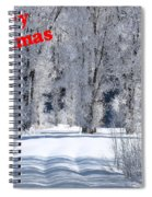 Merry Christmas Card 1 Spiral Notebook