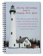 Merry Christmas Lighthouse Spiral Notebook