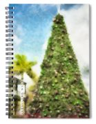 Merry Christmas Tree 2012 Spiral Notebook