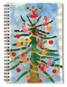Merry Christmas Tree Fairies In Progress Spiral Notebook