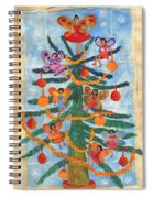 Merry Xmas Tree Fairies Spiral Notebook