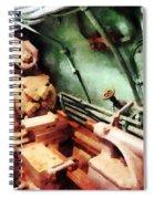 Metal Lathe In Submarine Spiral Notebook