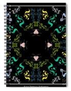 Metallic Flourishes Warp Spiral Notebook