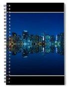 Miami Skyline Night Panorama Spiral Notebook