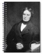 Michael Faraday, English Chemist Spiral Notebook