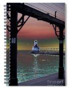 Michigan City Lighthouse 2 Spiral Notebook