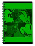 Mickey In Green Spiral Notebook