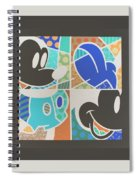 Mickey In Negative Spiral Notebook