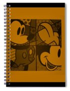 Mickey In Orange Spiral Notebook