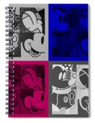 Mickey In Quad Colors Spiral Notebook