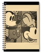 Mickey In Sepia Spiral Notebook