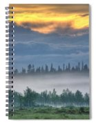 Mid Summer Night's  Fog Spiral Notebook