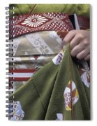 Midsection Of Apprentice Geisha - Maiko Spiral Notebook