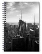 Midtown Skyline Infrared Spiral Notebook