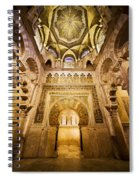 Mihrab And Ceiling Of Mezquita In Cordoba Spiral Notebook