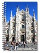 Milan Duomo Cathedral Spiral Notebook