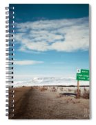Milepost At The Dempster Highway Spiral Notebook
