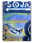 Miles Of Jazz Spiral Notebook