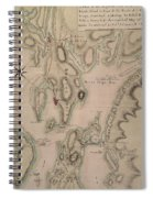 Military Plan Of The North Part Of Rhode Island Spiral Notebook