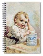 Milk Trade Card, 1893 Spiral Notebook