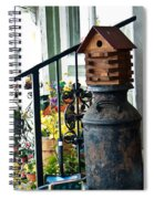 Milkcan And Birdhouse Spiral Notebook