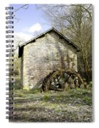 Mill And Water-wheel Near Ashford-in-the-water Spiral Notebook