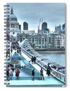 Millennium Bridge And St Paul's Cathedral Spiral Notebook
