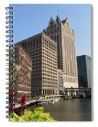 Milwaukee River And Skywalk Spiral Notebook