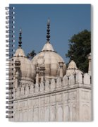 Minarets And Structure Of Pearl Mosque Inside Red Fort Spiral Notebook
