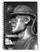 Miner Statue Monochrome Spiral Notebook