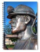 Miner Statue Spiral Notebook