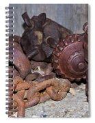 Mining Drill Bit Spiral Notebook