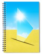 Mirror On Sand In Blue Sky Spiral Notebook